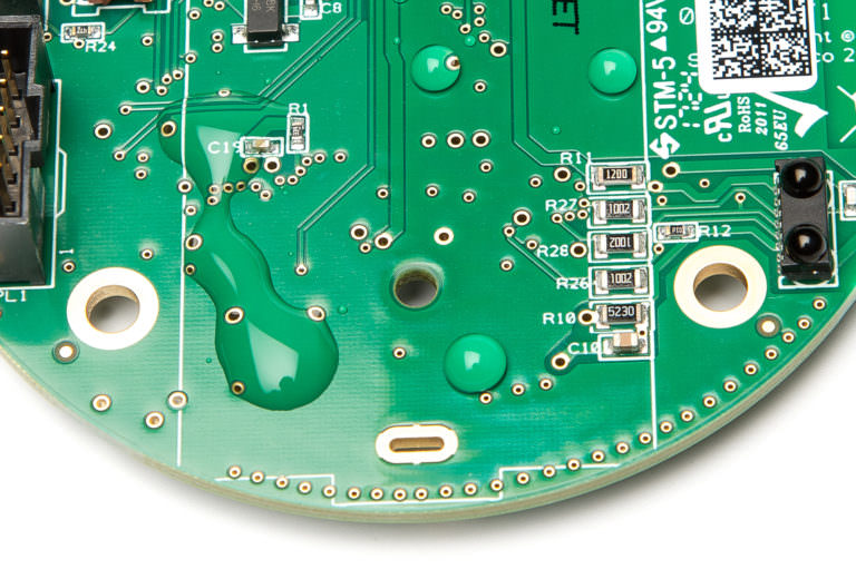 PCB with Novec coating